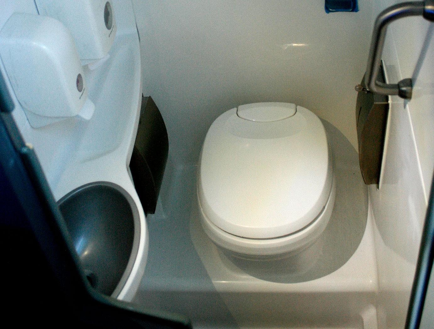 theBus interior baño